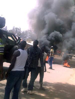 Jos, a cidade sofreu um bombardeio ontem, durante o jogo contra o Barcelona. (Foto: AFP)