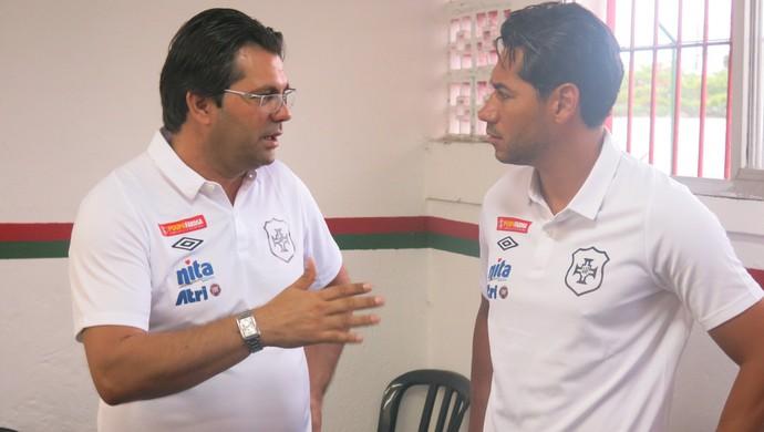 Claudemir Peixoto e Rodrigão Portuguesa Santista (Foto: Cássio Lyra)