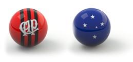 Confrontos guia da rodada bolas - Atlético-PR x Cruzeiro (Foto: Editoria de Arte)