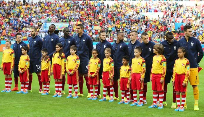 time da França posado perfilado jogo Honduras (Foto: EFE)