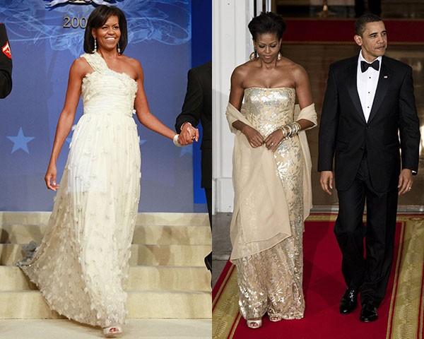 Michelle Obama de Jason Wu e Naeem Khan (Foto: Getty Images)