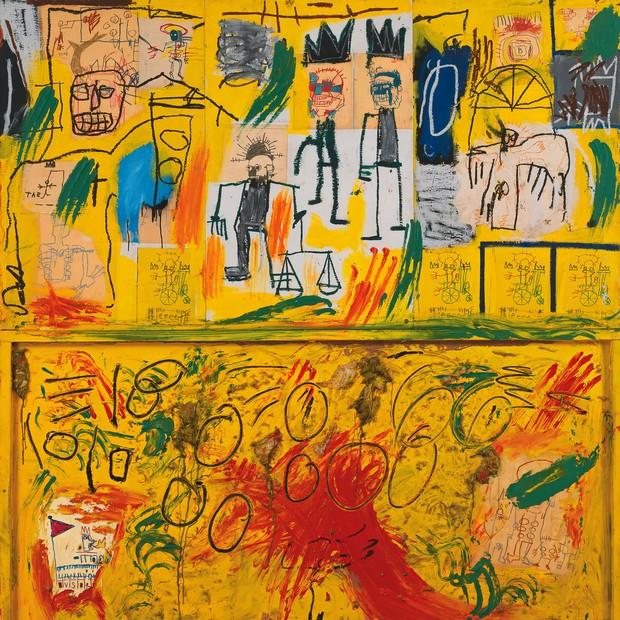 Jean-Michel Basquiat: uma das obras do artista que estão em destaque na exposição do CCBB (Foto: Divulgação)