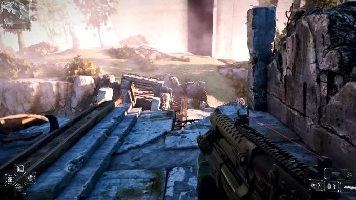 Killzone Shadow Fall: cada bala conta, então seja criativo e economize (Foto: Reprodução/Thomas Schulze)