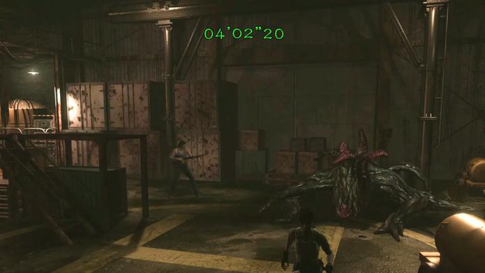 Resident Evil Zero HD: distraia Queen Leech para longe de Rebecca na parte final da batalha (Foto: Reprodução/Vinícius Mathias)