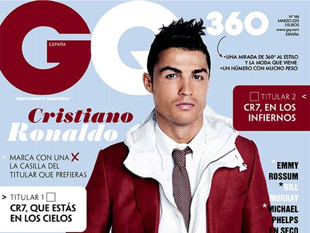 reprodução revista GQ cristiano ronaldo  (Foto: Reprodução / Revista GQ)