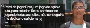 FOTOS: Candidatos revelam o  que deixaram de lado pelo Enem (Juliana Borges/G1 ES)