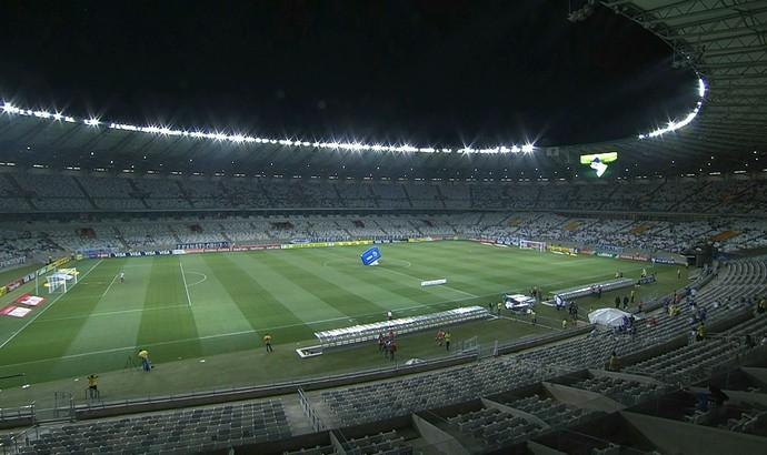 Cruzeiro e ABC se enfrentam na noite desta quarta-feira no Mineirão (Foto: Reprodução/Sportv)