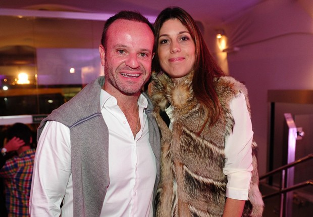 Rubens Barrichello with beautiful, cute, intelligent, Wife Silvana Giaffone Barrichello
