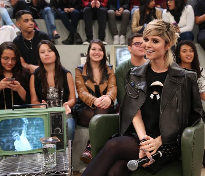 Julianne Trevisol participa do programa Altas Horas (Foto: Carol Caminha/Gshow)