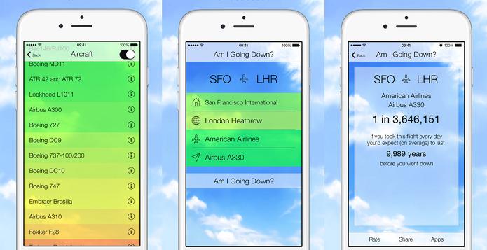 Descubra o risco do seu voo com o Am I Going Down? (Foto: Divulgação/AppStore)