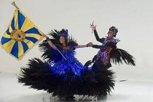 3 lugar - Unidos da Tijuca, escola representada pelo seu casal de Mestre Sala e Porta Bandeira (Foto: Alex Carvalho)
