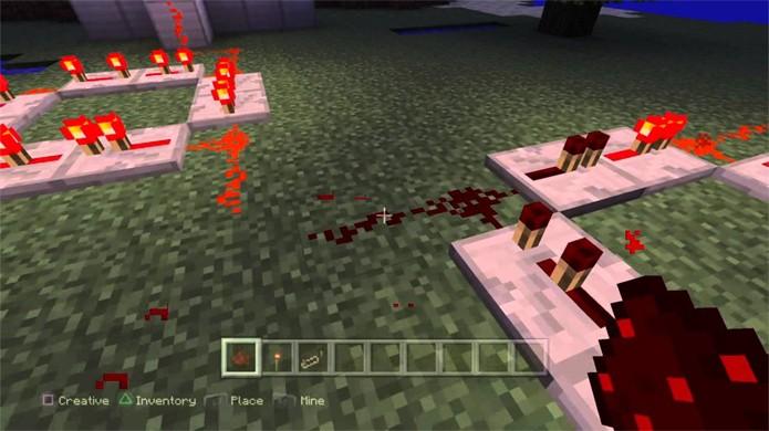 As pedras de Redstone trazem um alto grau de complexidade para Minecraft (Foto: Reprodução/YouTube)