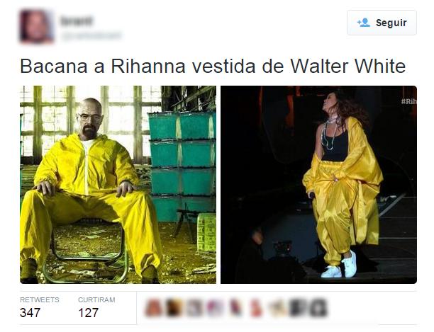 Memes com a roupa de Rihanna (Foto: Twitter / Reprodução)