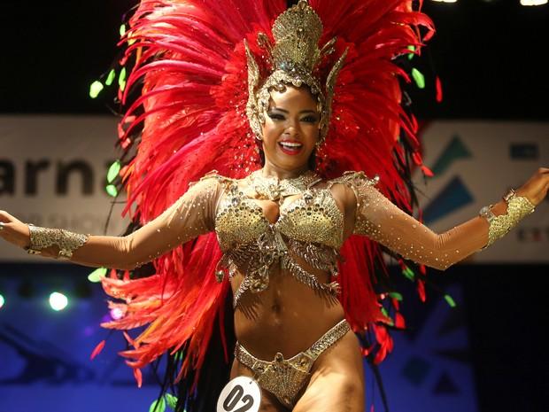 Joice Rocha, primeira princesa do carnaval do Rio 2017 (Foto: Fernando Maia/Riotur/Divulgação)