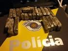 Polícia Rodoviária flagra casal com 20 tabletes de maconha em táxi