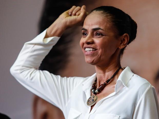 A candidata à presidência da República pelo PSB, Marina Silva, apresenta seu programa de governo em evento realizado em São Paulo (Foto: Adriana Spaca/Brazil Photo Press/Estadão Conteúdo)