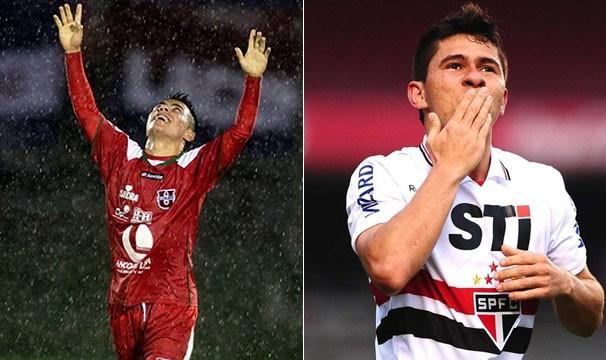 Johnny Uchuari e Osvaldo comemoram seus gols (Foto: Agência Reuters / Marcos Ribolli / Globoesporte.com)