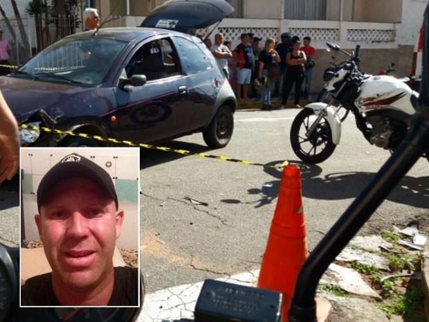 Homem de 32 anos morre em acidente após batida entre moto e carro em Varginha (Foto: Reprodução EPTV)