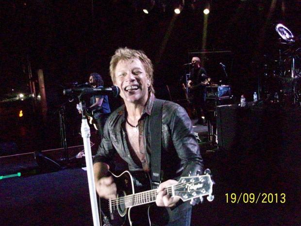 Jon Bon Jovi em foto feita pela fã Rosana Guedes (Foto:  Rosana Guedes/Arquivo pessoal)
