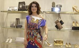 Fátima Bernardes em inauguração de loja no Rio (Foto: Philippe Lima / AgNews)