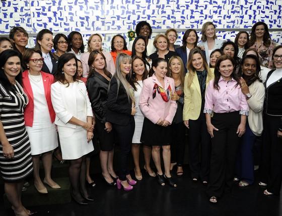 Encontro da bancada feminina da Câmara dos Deputados, em 2015 (Foto: Lúcio Bernardo Junior/Câmara dos Deputados)