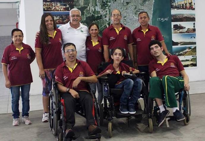 Delegação de MS no brasileiro de bocha adaptada em Itajaí (SC) (Foto: Edson Cavalli/ADD-MS)