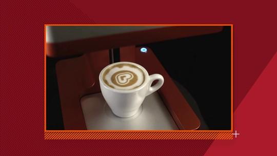 Máquina personaliza café com leite