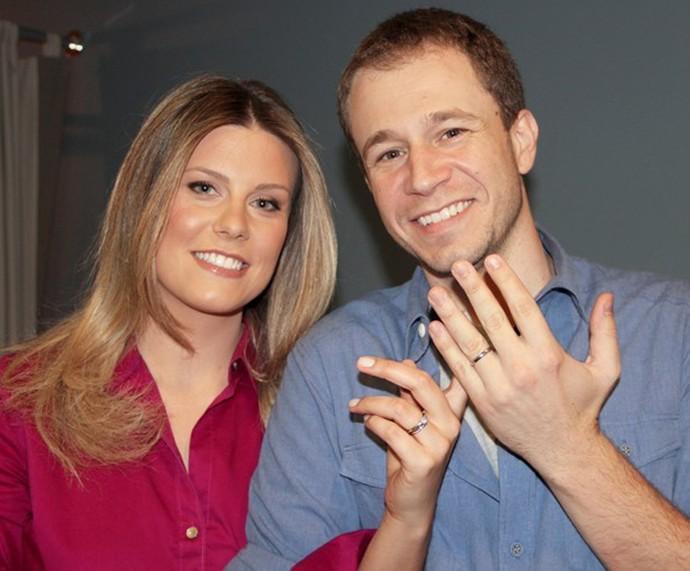 Tiago Leifert e a esposa, a jornalista Daiana Garbin (Foto: Gshow)
