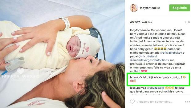 Latino comenta nascimento do terceiro filho de Kelly Key (Foto: Instagram / Reprodução)