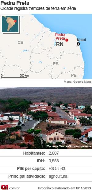 Mapa de Pedra Preta, no RN (Foto: G1)