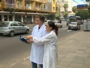 Teledomingo mostra níveis alarmantes de poluição em Porto Alegre (Foto: Reprodução/RBS TV)