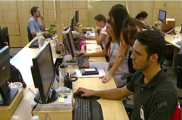 Quadro traz informações sobre o mercado de trabalho (Foto: Reprodução EPTV)
