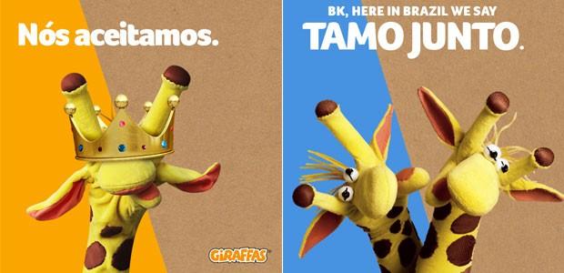Giraffas pegou carona na polêmica e voltou a repercurtir nesta quarta (2) a proposta do Burger King (Foto: Reprodução/Giraffas/Facebook)