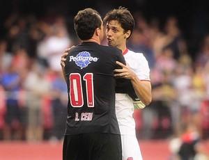 Rogério Ceni, Rodrigo Caio, gol São Paulo, Carlinhos (Foto: Marcos Ribolli)