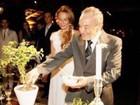 Stênio Garcia relembra casamento com Marilene Saade e diz: 'Saudade'