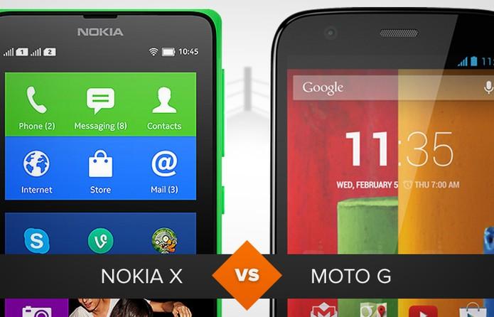 Comparativo entre Nokia X e Moto G: veja qual é o melhor (Foto: Arte/TechTudo)