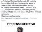 Prefeitura alerta sobre falsas vagas de emprego de até R$ 9 mil em Sumaré