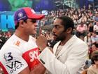 Capoeira ou MMA? Lázaro Ramos desafia Vitor Belfort no Altas Horas