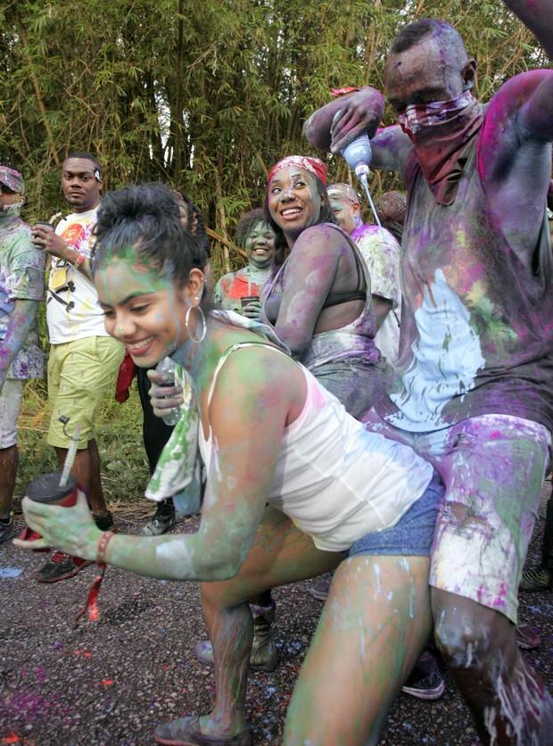 Usain Bolt curte Carnaval (Foto: The Grosby Group / Agência)