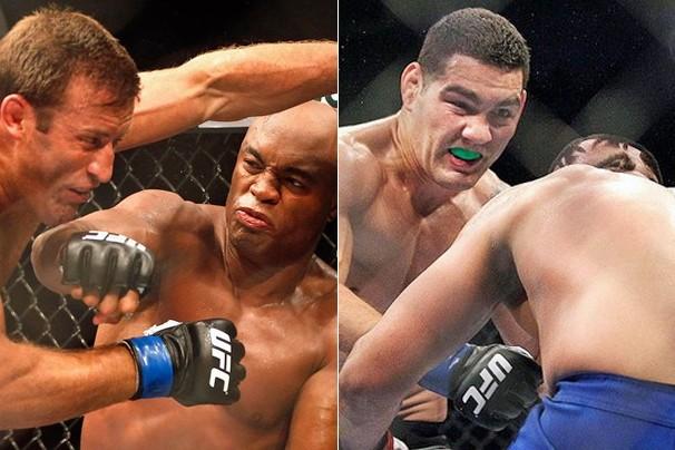 Anderson Silva defende o cinturão em luta contra Chris Weidman (Foto: Getty Images)
