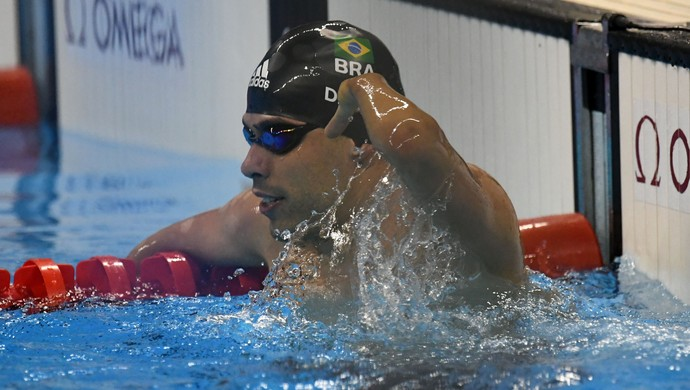 Daniel Dias vence os 200m livre S5 (Foto: André Durão)