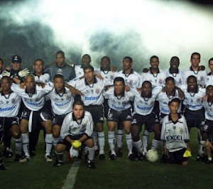 Marcelinho Carioca, Rincón, Edílson e cia em 1999 (Foto: Divulgação)