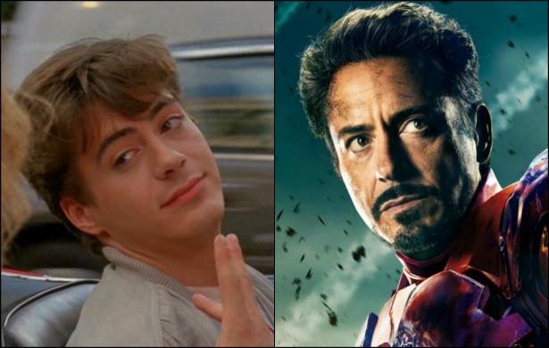 Quem diria que o 'Homem de Ferro' já foi 'O Rei da Paquera'? Robert Downey Jr., de 49 anos, tinha apenas 22 quando estrelou a comédia romântica em 1987. (Foto: Reprodução e Divulgação)