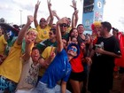 Jogo do Brasil na Fan Fest do DF tem público de 30 mil pessoas
