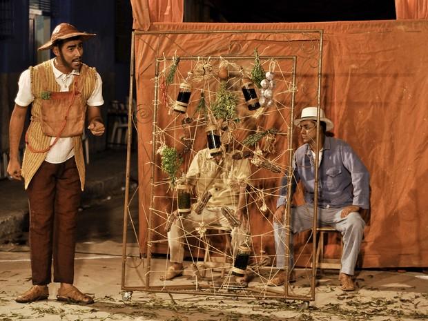 Espetáculo Baldroca, do grupo alagoano Joana Cajuru, será encenado no calcadão do Comércio (Foto: Vladmir Alexandre / Divulgação)