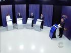 Candidatos a prefeito participam de debate na RBS TV, em Florianópolis