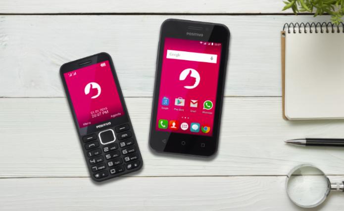Positivo One e Positivo P28: novos smartphones da fabricante brasileira (Foto: Divulgação/Positivo)