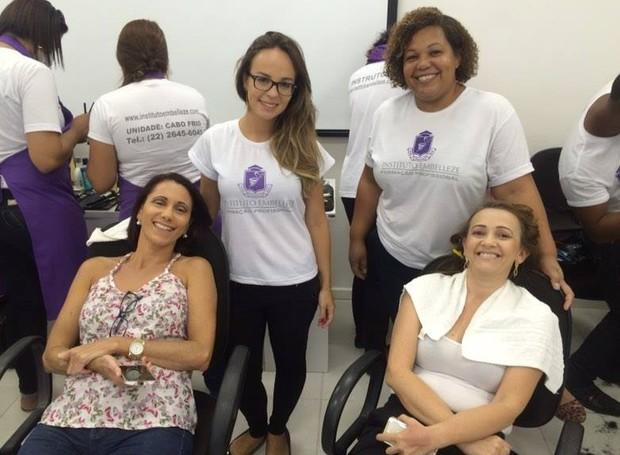 Alunas e participantes do projeto (Foto: Vítor Santos/ Programação)