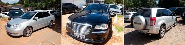 Três carros de luxo foram apreendidos na operação Pedra de Fogo (Foto: Divulgação/Polícia Civil do RN)