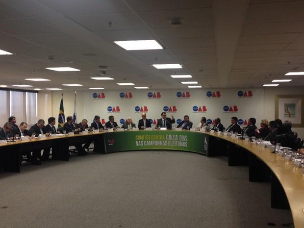 OAB e CNBB anunciam  criação de comitê para receber denúncias de caixa dois em campanha (Foto: Renan Ramalho/G1)